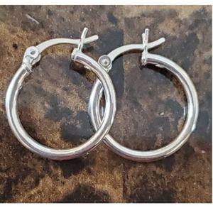 25mm (medium) Sterling Silver Hoop Earrings